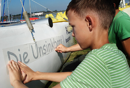 Aos Bootstaufe1 442 in ALL-on-SEA youngsters-Boote haben jetzt Namen
